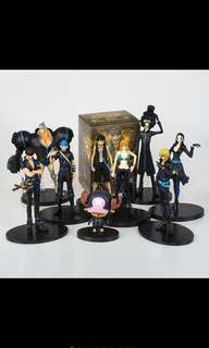 One piece figure 9pcs (limited stock)