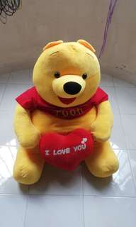 Giant Pooh plush toy