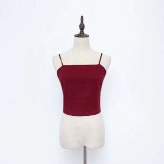 Red top with ribbon in the back