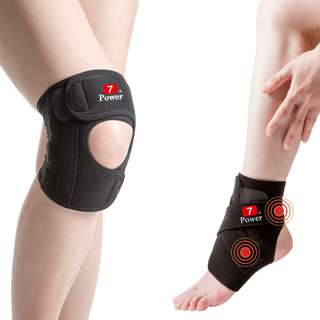 7Power Medical Professional Knee Support(L) x2 + Ankle Support x2