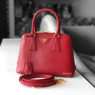 Authentic Prada Saffiano Lux Fuoco 1BA838