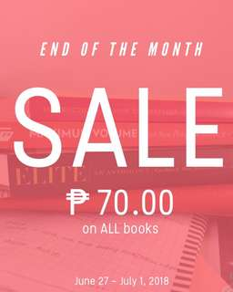70 PESOS ON ALL BOOKS - END OF THE MONTH SALE