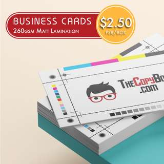Business Card Printing from $2.50/box, Full Colour Matt Laminated Business Cards