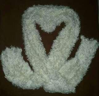 Wool White Scarf