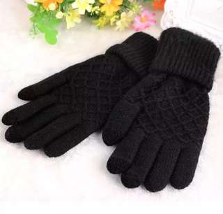 Knitted Winter Gloves (Touch Screen Sensitive)