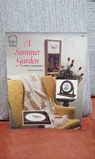 Cross Stitch Book - A Summer Garden of Roses and Hummingbirds