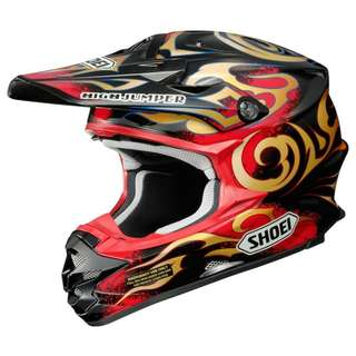 Shoei SIZE MEDIUM and X-LARGE ONLY VFX-W Taka Higashido VFX-W Off Road Dirt Bike Motorcycle Motorbike Supercross Adventure Helmet TC-1 VFX-W Taka Helmet