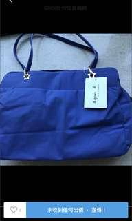 購自日本新款 Agnes b Voyage Agnesb  藍色 星星 手袋 可手挽 上膊
