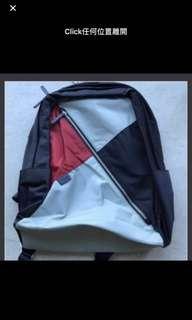 購自日本新款 Agnes B   Voyage  Agnesb 黑色拼紅色 背包