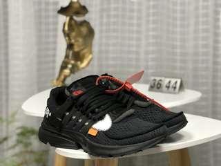 Nike AIR PRESTO x Off-White 聯名耐克王網面透氣跑步鞋 AA3830-002