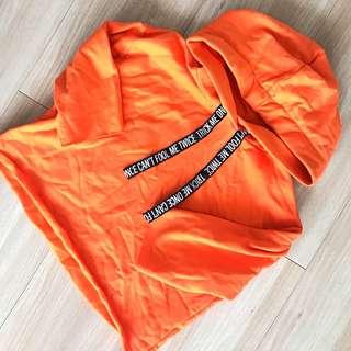H&M orange hoodie