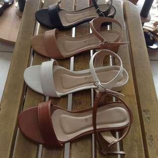 Leatherette Mid Heels 1 inch