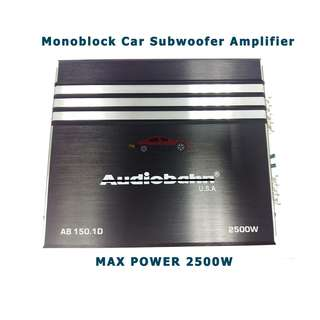 Audiobahn Max Power 2500w Monoblock Subwoofer Amplifier