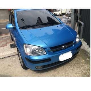 05年 現代 GETZ 藍色 跑12 阿銘專營台灣優質認證中古車 二手車