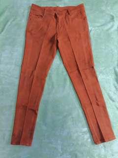 Celana Jeans Color Orange