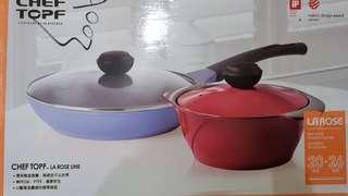 Chef Topf 玫瑰薔薇系列20+26公分不沾鍋具組