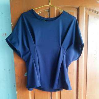 Atasan Navy fit to xl LD 100 - 112