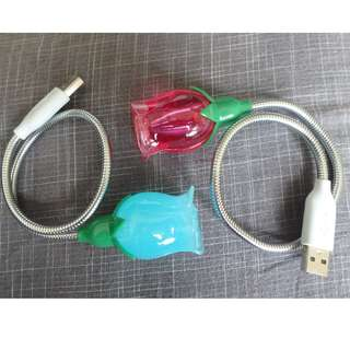 [LIKE NEW] Rose Pink and Blue USB Lights