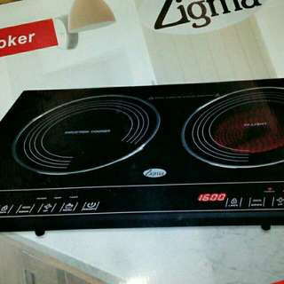 Two zone digital induction+radiant  cooker