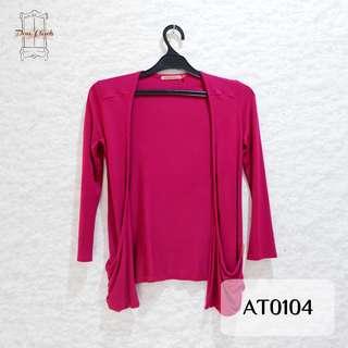 Pink Fuchsia Long Sleeve Outerwear