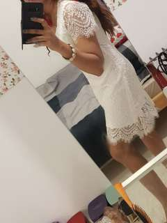 Reduced 🤑Lace dress white