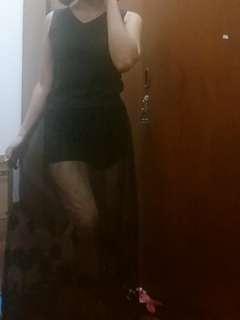 Long transparent skirt