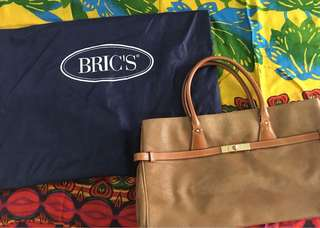 Brics brown satchel work bag