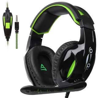 🚚 1143. SUPSOO G813 3.5mm Stereo Gaming Headsets Over-Ear Headphones Bass Headsets