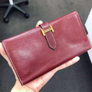 Authentic Hermes H Wallet in Very Good Vintage condition