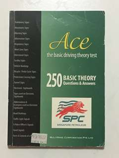 ACE The Basic Driving Theory Test (BTT) Book 250 Basic Theory Questions & Answer