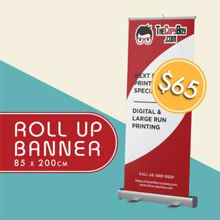 Roll Up Banner from $65