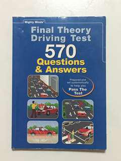Final Theory Driving Test (FTT) Book 570 Questions & Answers