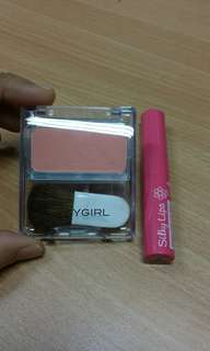 Silkygirl blusher and lip gloss