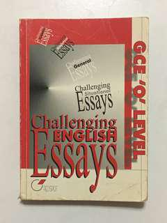 GCE O Level Challenging English Essay