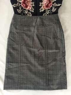 Vintage Plaid A-Line Skirt
