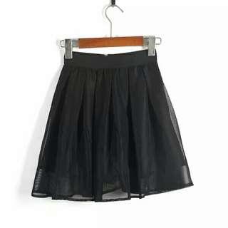 🚚 拉鍊網紗蓬蓬防走光內裡褲裙短裙