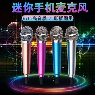 Singing Microphone Mini Mobile Phone Microphone Karaoke Device 手机话筒迷你手机麦克风k歌神器#501