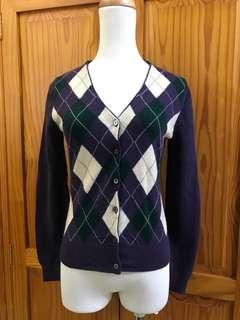 🚚 好物小舖-設計師品牌Ecco學院風格紋純羊毛小外套