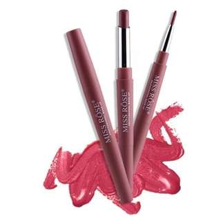 🚚 Miss Rose 2 in 1 Double-ended Lipstick and Lipliner