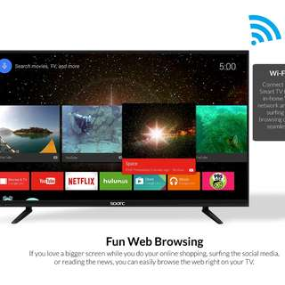 "32"" LED SMART Super Slim TV Android with WIFI Free Wall Bracket Free Shipping and Cash On Delivery Nationwide"