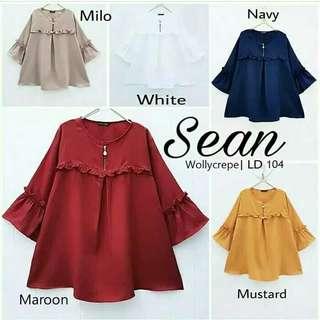 Baju atasan sean blouse tunik baju muslim blus muslim - maroon