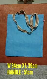 Cross Stitch Fabric Tote Bag (11ct, blue)