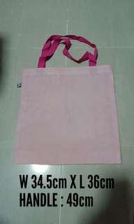 Cross Stitch Fabric Tote Bag (11ct, Pink)