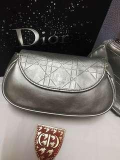 Dior silver pouch