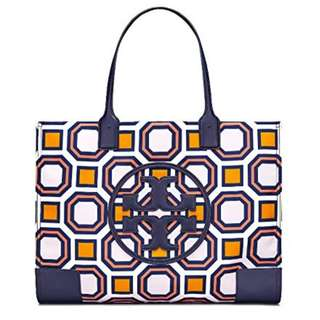 Tory Burch - Ella Octagon Square Print Nylon Tote Bag