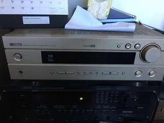 AV receiver, 2 speaker and a sub woofer and center speaker