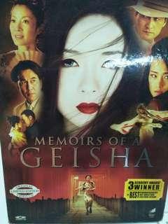 Memoirs of a geisha movie DVD