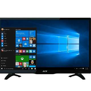 "ACE LED TV 24"" Slim LED TV & Computer Monitor via VGA & HDMI Port Connect To Xbox Nintendo Switch PS3 PS4 PC MAC"