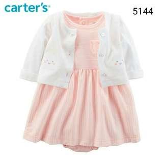 2in1 Carter's orange stripes jumper set