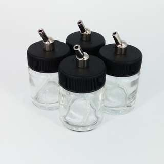 Airbrush Glass Jar Set of 4